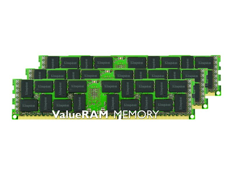 Kingston 24GB PC3-14900 DDR3 SDRAM DIMM Kit, KVR18R13S4K3/24, 16831714, Memory