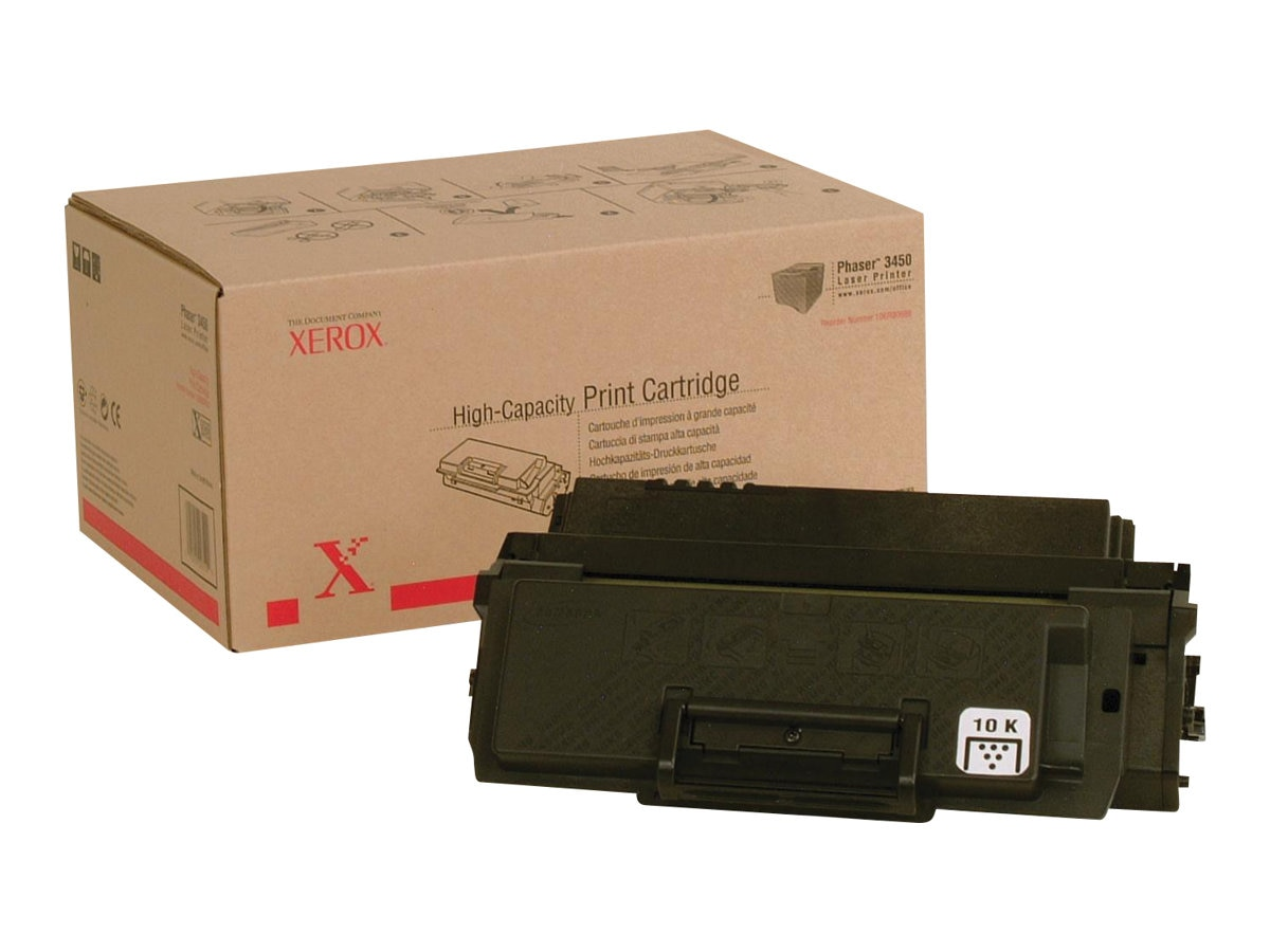 Xerox Black High Capacity Print Cartridge for Phaser 3450 Series Printers, 106R00688