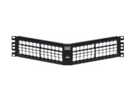Leviton 48-Port 2RU Shielded Angled QuickPort Patch Panel, 4S256-S48, 32328051, Patch Panels