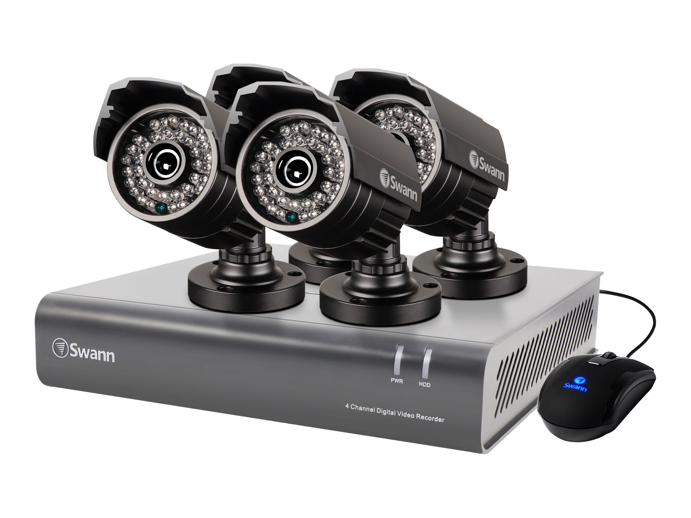 Swann 4 Channel 720p Digital Video Recorder and 4x PRO-A850 Cameras, SWDVK-444004A-US, 20661674, Video Capture Hardware