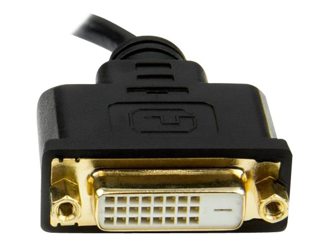 StarTech.com Mini HDMI to DVI-D M F Adapter, Black, 8, HDCDVIMF8IN