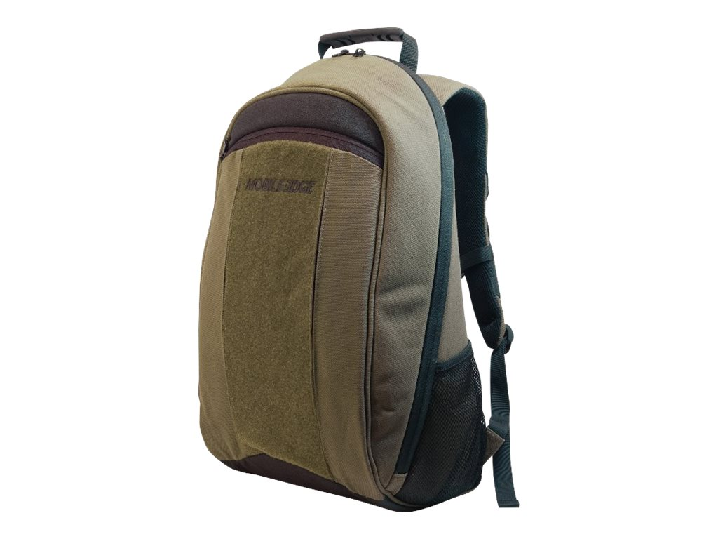 Mobile Edge 17.3 Eco Friendly Canvas Backpack, Olive, MECBP9, 11663213, Carrying Cases - Notebook