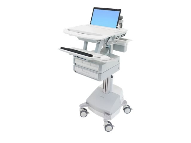 Ergotron StyleView Laptop Cart, SLA Powered, 4 Drawers, SV44-1141-1, 18024810, Computer Carts - Medical