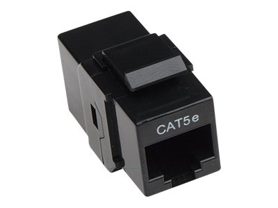 Intellinet 8P8C F F Cat5e Keystone Inline Coupler 568A 568B Black