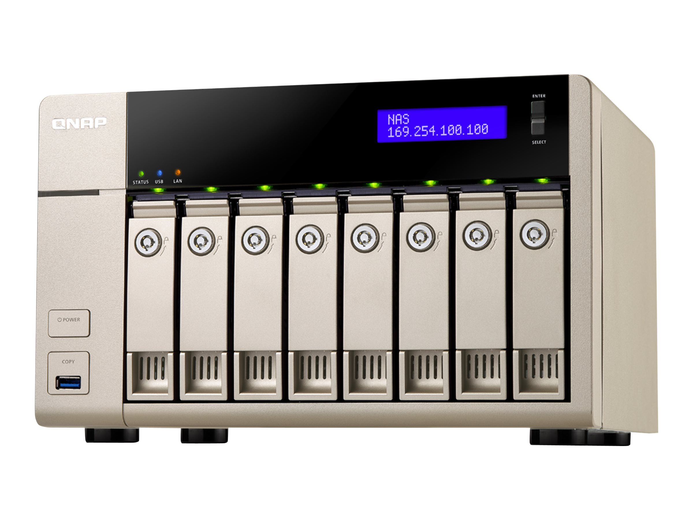 Qnap 8-Bay AMD X86-Based NAS w  8GB RAM, TVS-863+-8G-US