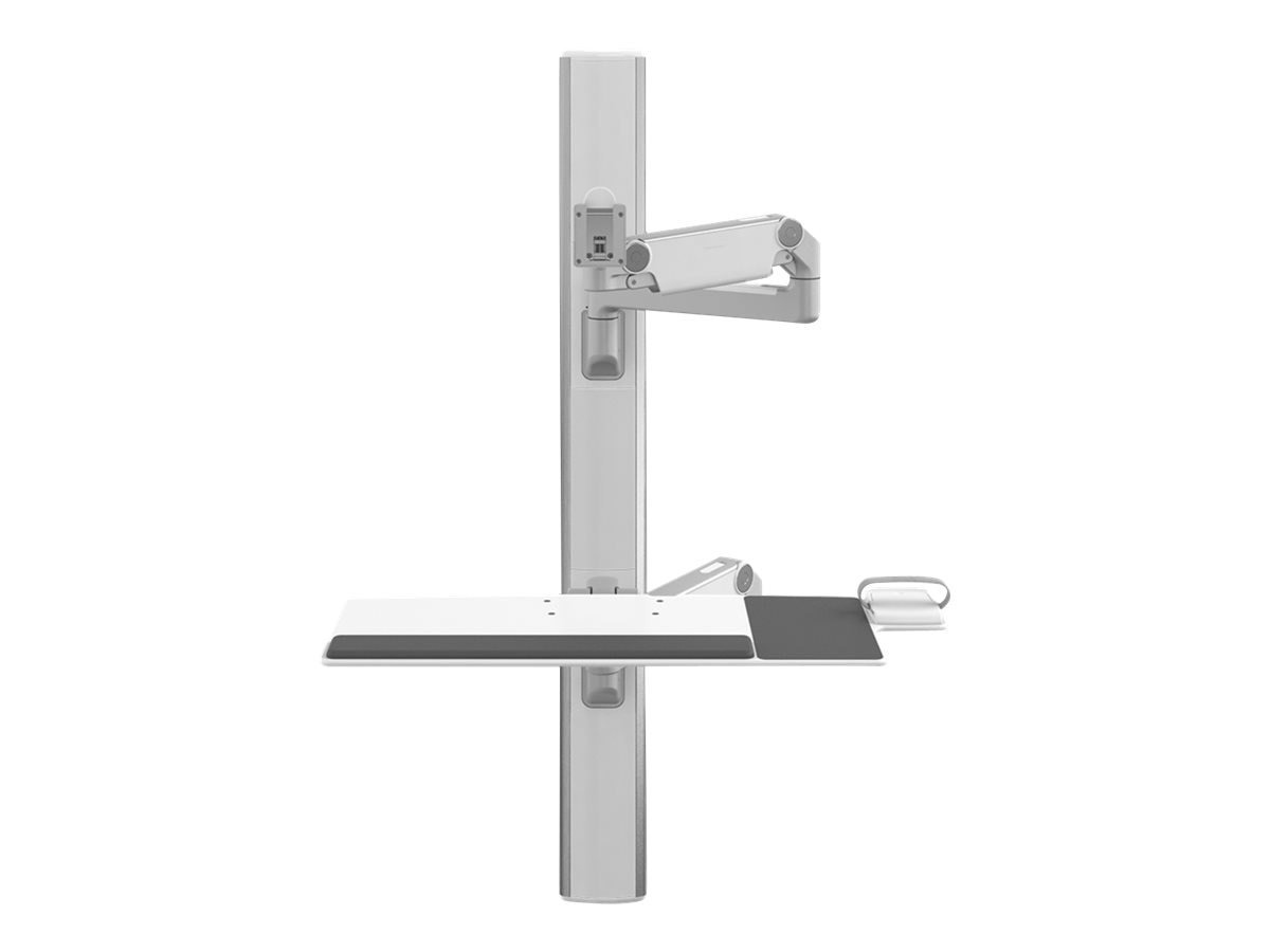 Humanscale V6 Wall Station, 47 Track, Straight Adjustable Arm