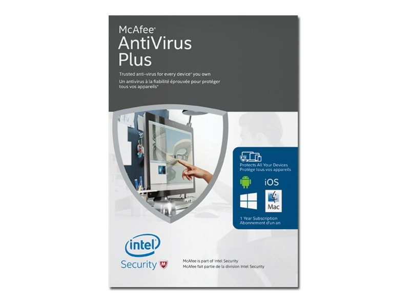 McAfee Antivirus 2016 Retail Boxed Product, MAV16EMB9RAA, 30735657, Software - Antivirus & Endpoint Security