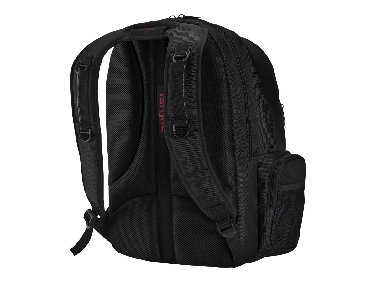 Targus 16 Expedition Backpack, Black Red Accents, TSB229US