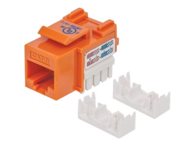 Manhattan Cat6 UTP Keystone Jack, Orange