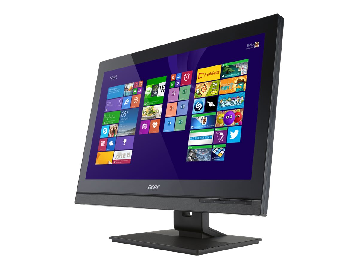 Acer Veriton VZ4810G AIO Core i3-4150T 3.0GHz 4GB 500GB DVD SM GbE abgn BT WC 23 Touch W7P64-W8.1P, DQ.VKRAA.003, 17650544, Desktops - All-in-One