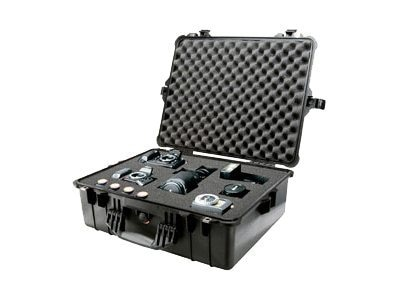 Pelican Protector Large Case (1600), Black, 1600 BLACK W/FOAM, 5407491, Carrying Cases - Other