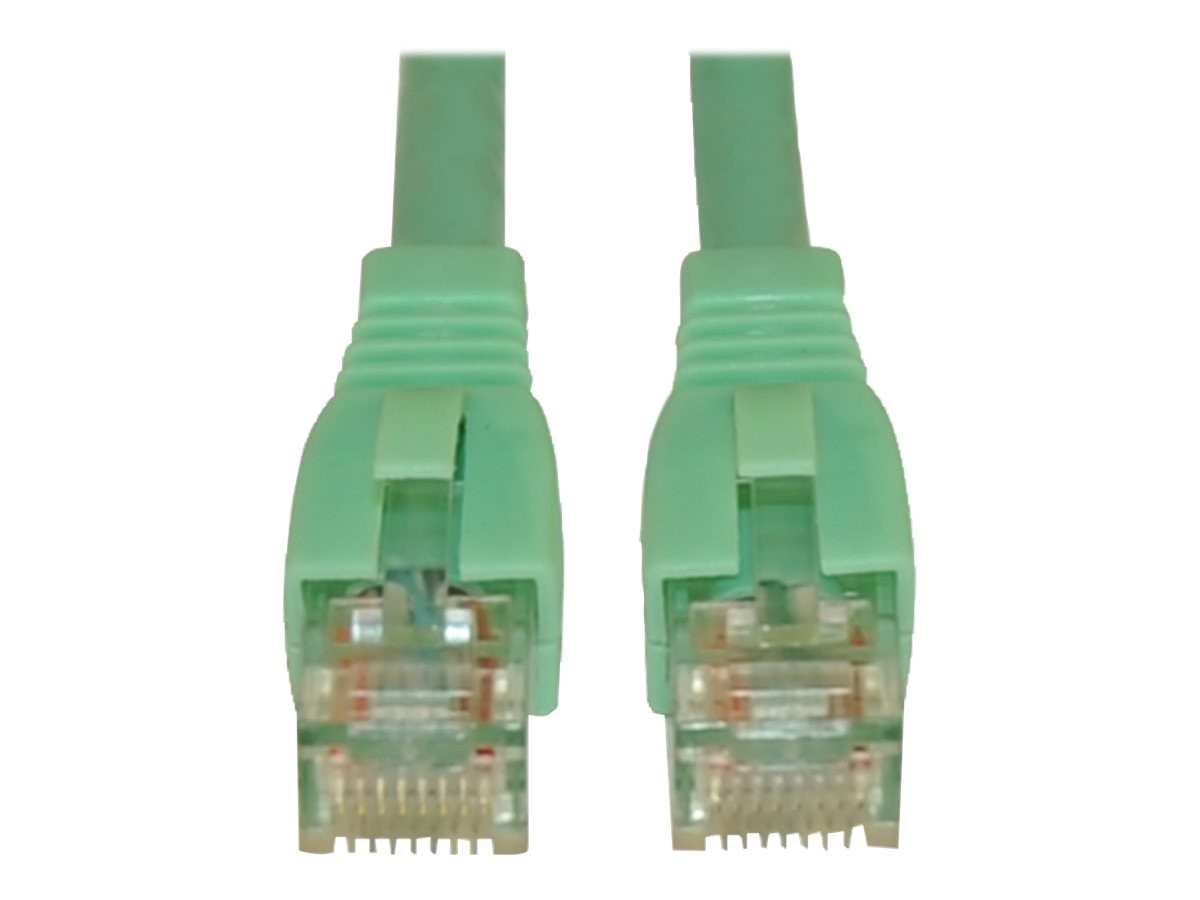 Tripp Lite Augmented Cat6 (Cat6a) Snagless 10G Certified Patch Cable, Aqua, 3ft, N261-003-AQ