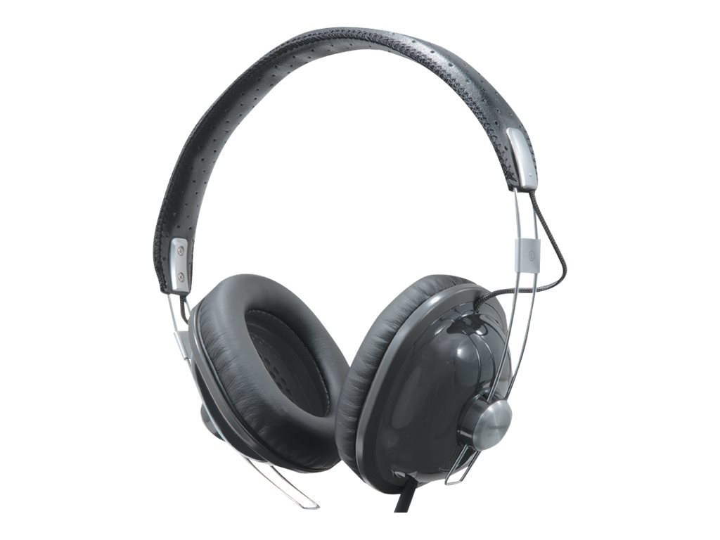 Panasonic Old School Monitor Stereo Headphones, Black, RP-HTX7-K1, 8729226, Headphones