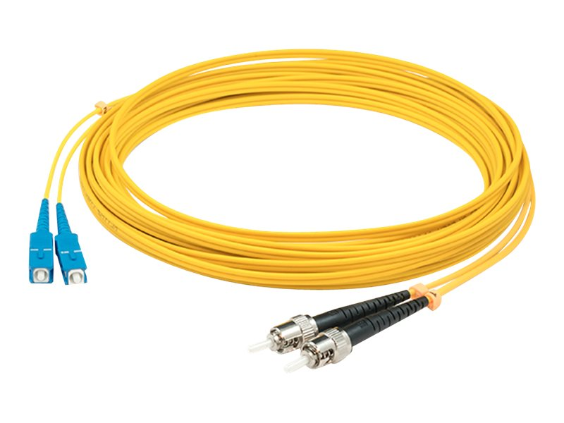 ACP-EP SC-LC 9 125 OS1 Singlemode Fiber Cable, Yellow, 1m