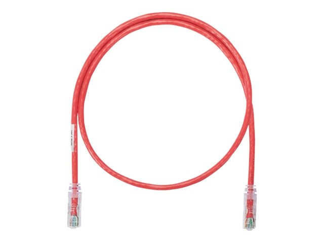Panduit CAT6A UTP Copper Patch Cable, Red, 20ft, NK6APC20RD