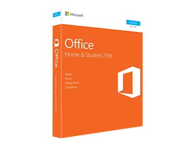 Microsoft Corp. Office Home and Student 2016 Win English NA Only Medialess P2