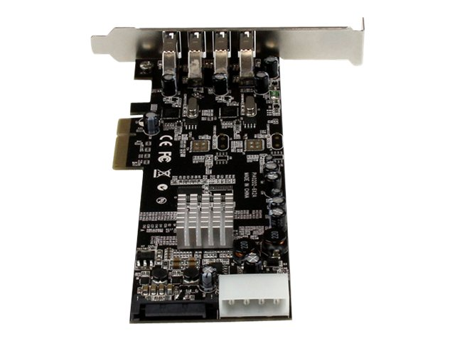 StarTech.com 4-Port Dual Bus PCI Express (PCIe) SuperSpeed USB 3.0 Card Adapter with UASP, PEXUSB3S42V