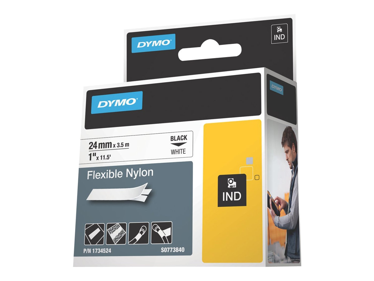 DYMO 1 White Flexible Nylon Tape, 1734524, 8841146, Paper, Labels & Other Print Media