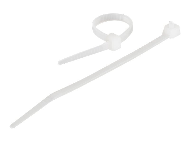 C2G Reusable Cable Ties, White, 4in, 50-pack, 43042, 7486453, Cable Accessories