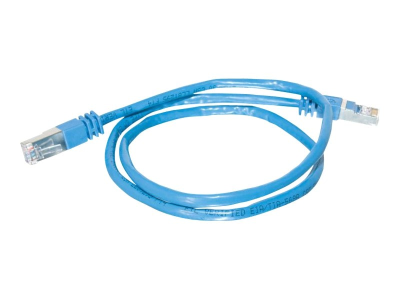 C2G Cat5e Patch Cable, Shielded, Molded, Blue, 75ft