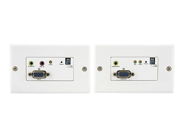 StarTech.com VGA Wall Plate Video Extender over Cat5 with Audio, STUTPWALLA, 10746885, Premise Wiring Equipment