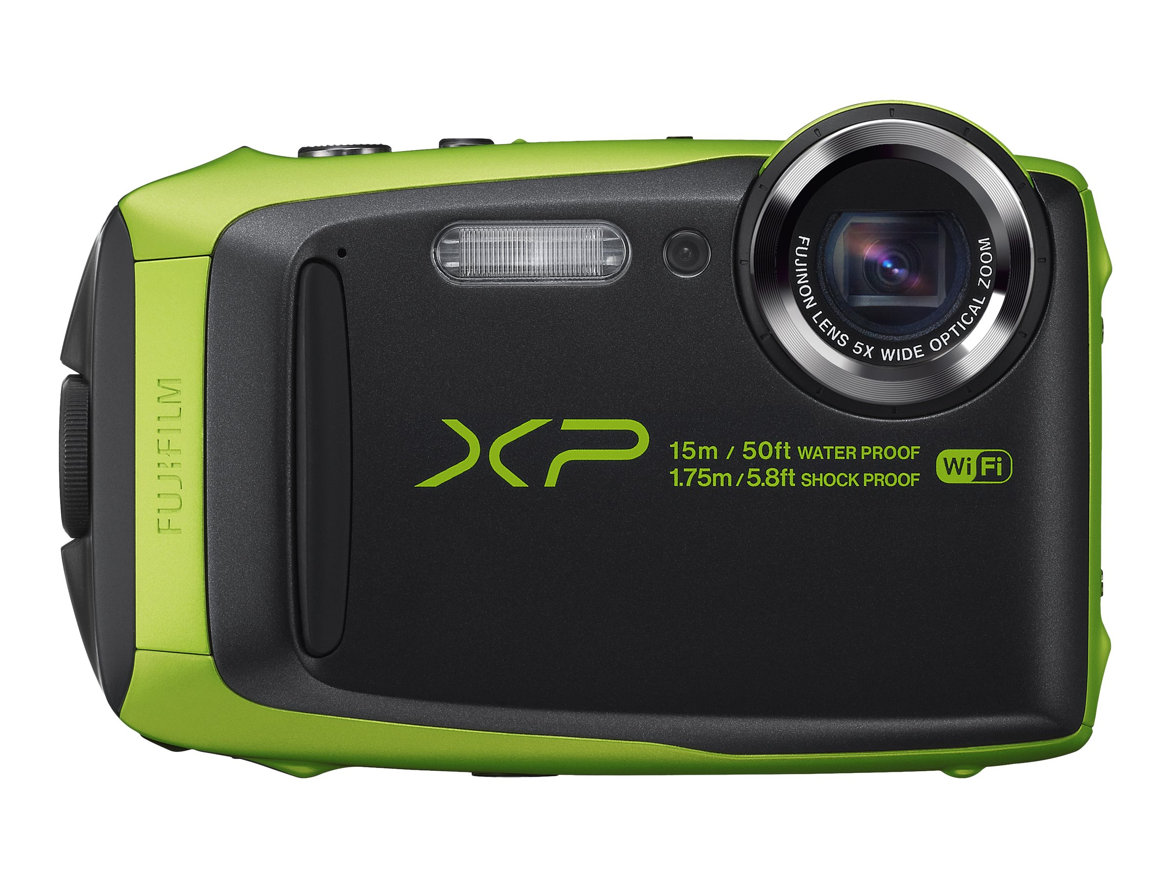 Fujifilm FinePix XP90 Waterproof WiFi Camera, 16.4MP, 5x Zoom, Lime, 16500208, 31271575, Cameras - Digital - Point & Shoot