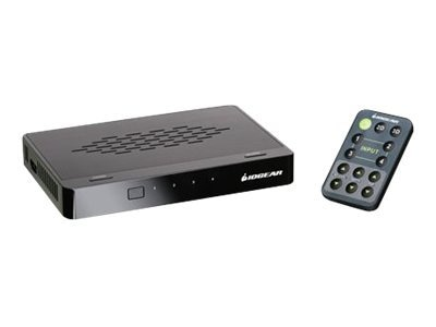 IOGEAR 4-Port Super Switcher with Advanced 2D 3D Video, GHDSSW4, 14496271, Switch Boxes - AV