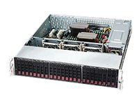 Supermicro Chassis, SuperChassis 216BE2C 2U RM 24x 2.5 HS Bays SAS3 12Gb s Expander Backplane 7xSlots 2x920W