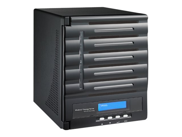Thecus Tech W5000 Windows Storage Server Tower Atom DC 2.13GHz 2GB 5xBays 2xGbE 200W WSS12R2E, W5000, 18007905, Servers