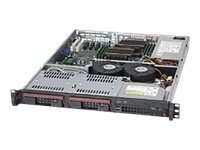 Supermicro 1U Server Chassis, ATX, DP, 2x3.5 HS SAS SATA, 350W, CSE-811TQ-350B, 12032843, Cases - Systems/Servers