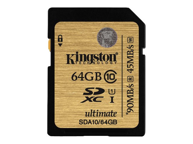 Kingston 64GB SDXC Flash Memory Card, Class 10