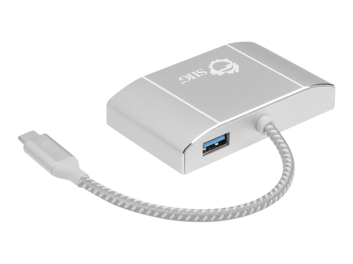 Siig USB 3.1 Type-C LAN Hub w  HDMI Adapter 4K Ready, JU-H30712-S1