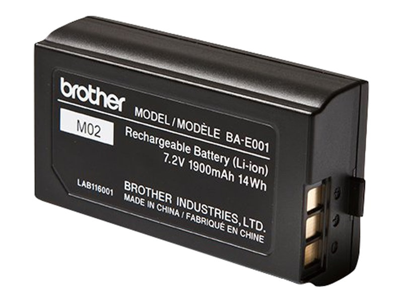 Brother Li-Ion 7.2V 1900mAh 13Wh Rechargeable Battery Pack, BAE001