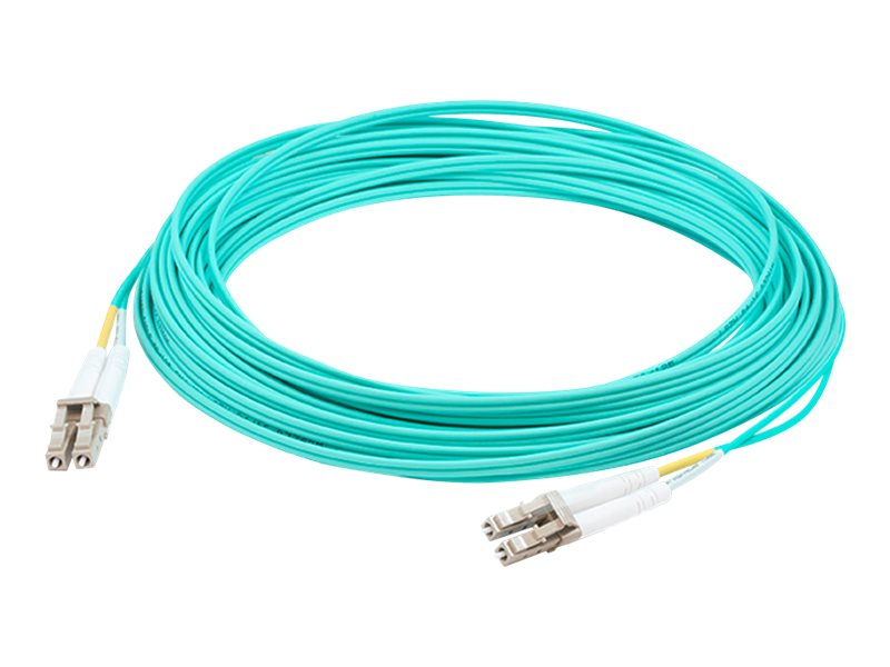 ACP-EP Fiber Patch Cable, LC-LC, 62.5 125, Duplex, Multimode, Aqua, 50m, ADD-LC-LC-50M5OM4