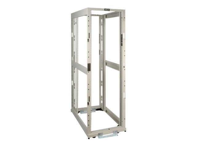 Tripp Lite 42U White 4-Post SmartRack Premium Open Frame Rack w o Sides, Doors or Roof