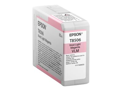 Epson Light Magenta UltraChrome HD 80ml Ink Cartridge for SureColor P800, T850600