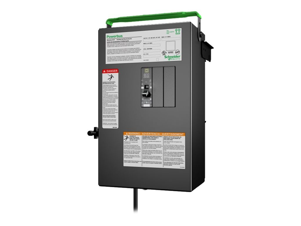 APC PB Busway Tap Off Unit, 1x1 pole 3 Wire, Phase A, 1 Drop cord, IEC 309 30A, 240V, PBP4A11IEC30A, 17672647, Premise Wiring Equipment