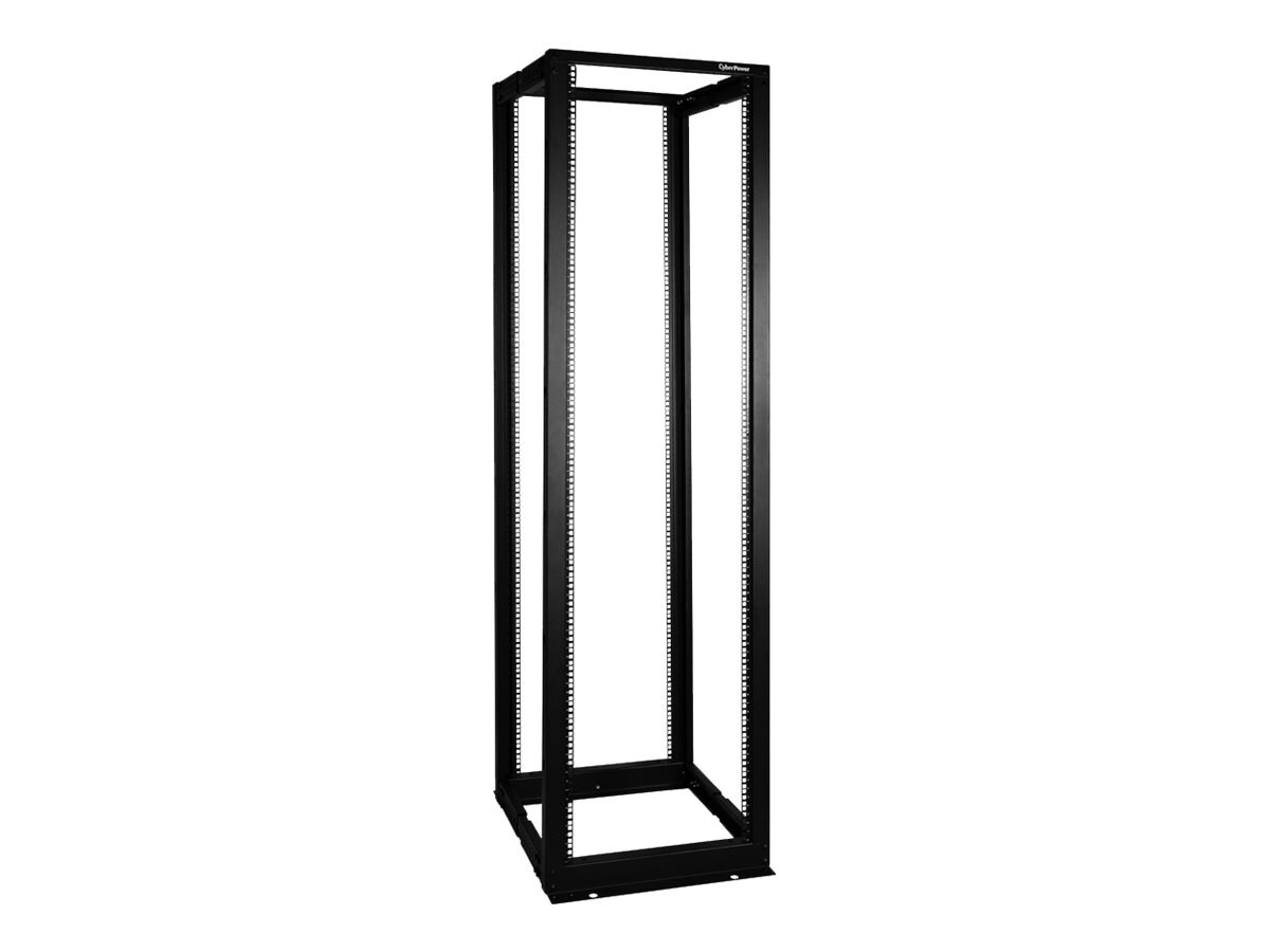 CyberPower Carbon 4-Post Open Frame Rack, 45U x 19, 1760lb Capacity, Instant Rebate - Save $27, CR45U40001