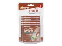 Memorex 4x 1.4GB Mini DVD-R Media (5-pack Blister), 32025629, 5791411, DVD Media