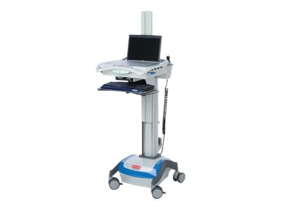 Rubbermaid Computer Cart for Notebook, 16in Height Adjustment, Fully Adjustable K, 9M38-00-L00, 9408926, Computer Carts