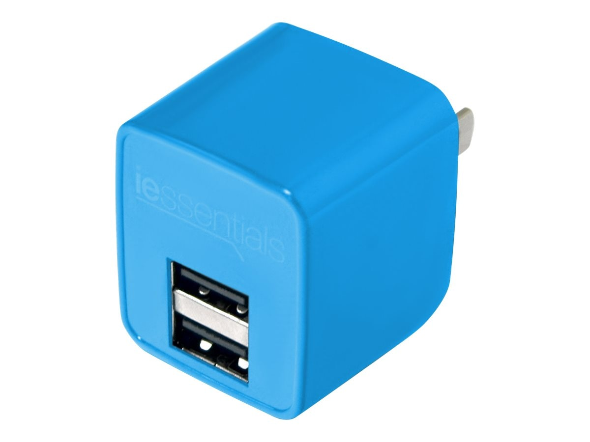 Mizco 2.1A Dual USB Home Wall Charger, Blue