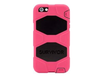 Griffin Survivor All-Terrain for iPhone 6 Plus, Pink Black, GB40544, 17701022, Carrying Cases - Phones/PDAs