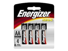Energizer Battery, MAX AA (4-pack), E91BP-4, 9554211, Batteries - Other