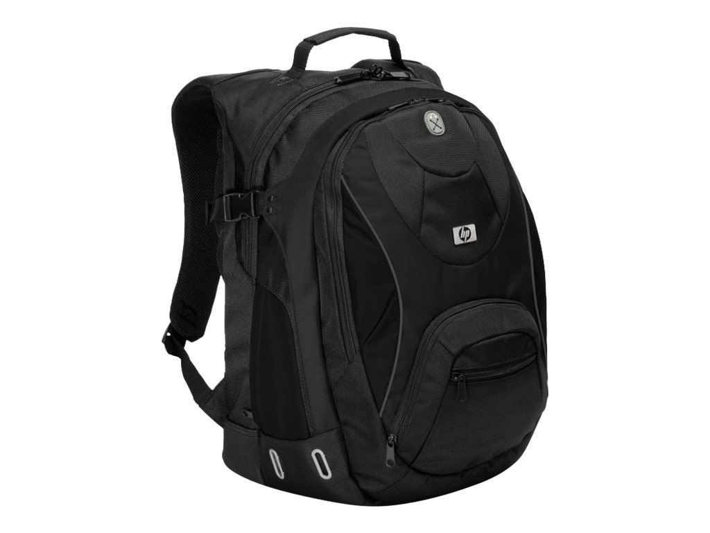HP Sport Black Backpack, GN073AA, 8553769, Carrying Cases - Notebook