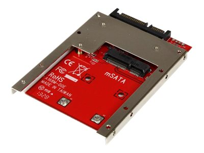 StarTech.com mSATA Solid State Drive to 7mm High 2.5 SATA 6Gb s Open Bracket Solid State Drive Adapter