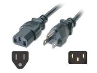 C2G Shielded Universal Power Cord IEC320 C13 To NEMA 5-15P 6ft, 03133, 6516884, Power Cords