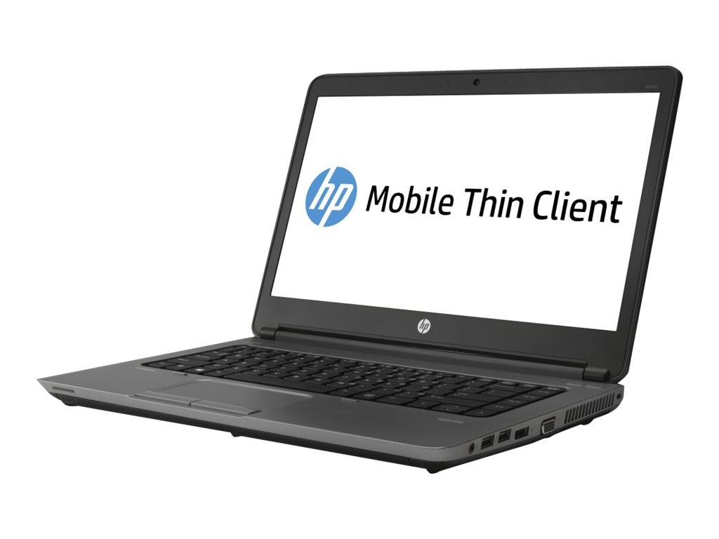 HP Smart Buy mt41 Mobile Thin Client A4-4300M 2.5GHz 4GB RAM 16GB SSD DVD-ROM abgn BT WC 14 HD WES7E