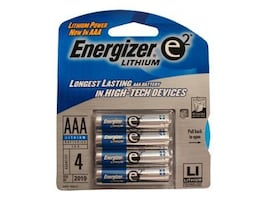 Energizer Battery, Lithium e2 AAA 4 Pack, L92BP4, 7448300, Batteries - Other