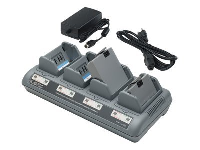 Zebra Quad Charger for QL and RW Series Printers, US and Japan, AC18177-5, 7973972, Battery Chargers