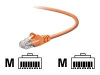 Belkin TAA Cat5e Snagless Patch Cable, Orange, 7ft, TAA791-07-ORG-S